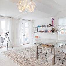 Contemporary Home Office by Margot Hartford Photography