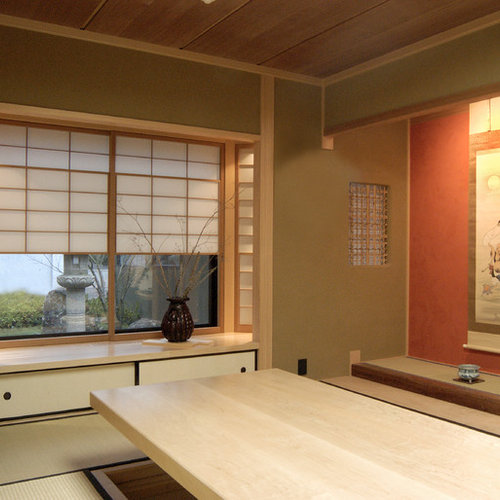 japanese home office. Example Of A Mid-sized Asian Home Office Design In San Francisco Japanese N