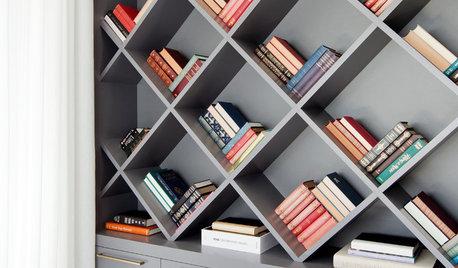 Snygga bokhyllor som är konstverk i sig