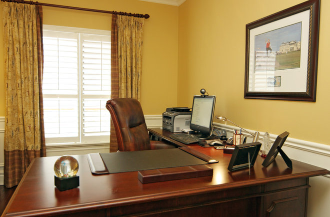 Traditional Home Office by Jennifer Brouwer (Jennifer Brouwer Design Inc)