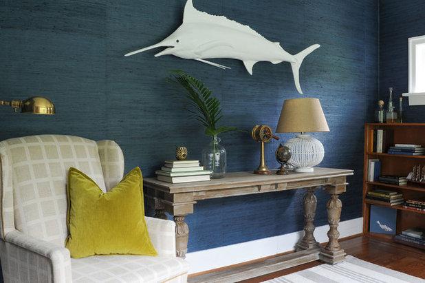 Beach Style Home Office by PlaidFox