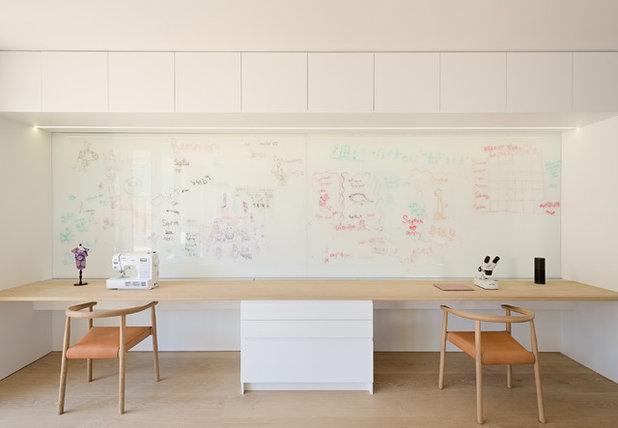 Модернизм Кабинет by Hayasa Flooring Design, Inc