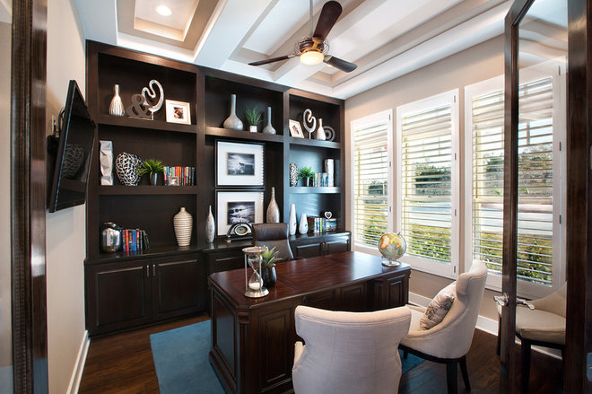 Traditional Home Office by Mary DeWalt Design Group