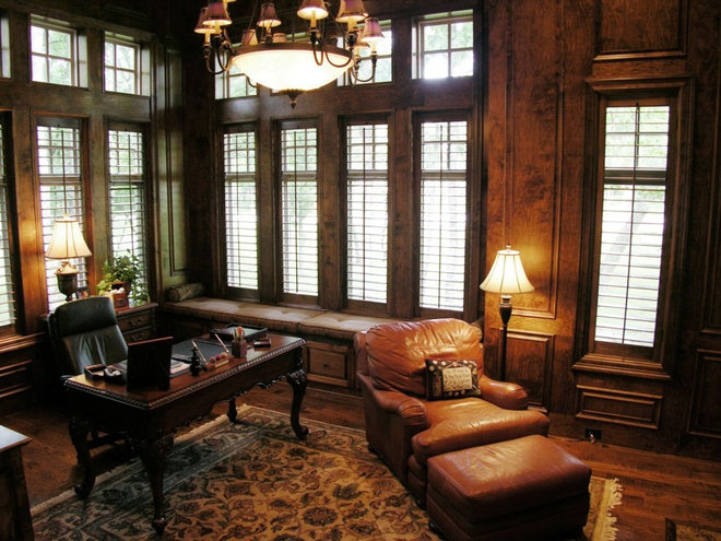 Traditional Home Office by John Lively & Associates
