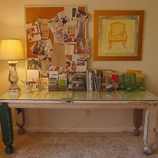 Contemporary Home Office by Joanie Ballard