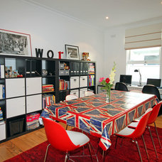 Eclectic Home Office by Joanna Ford Interior Design