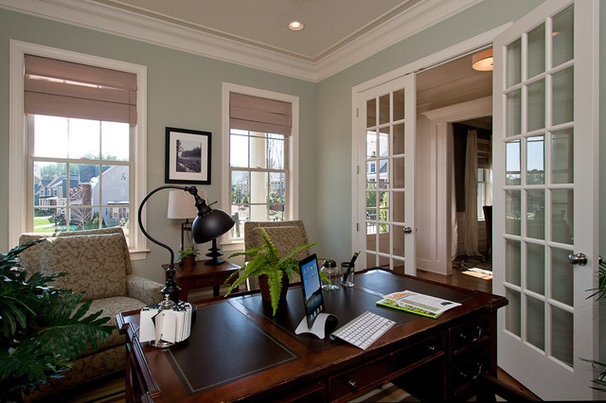 Traditional Home Office by Tad Davis Photography