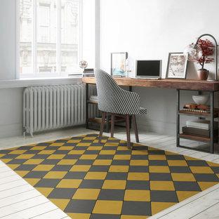 Joli Sol Checkers Gold and Slate Vinyl Mat
