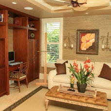 Tropical Home Office by Studio ~M~ Interior Design & Architecture