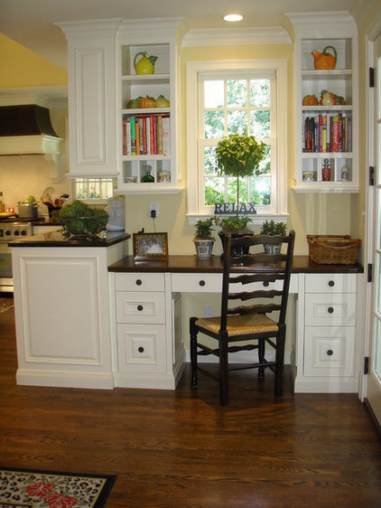 Traditional Home Office by Kathleen Burke Design