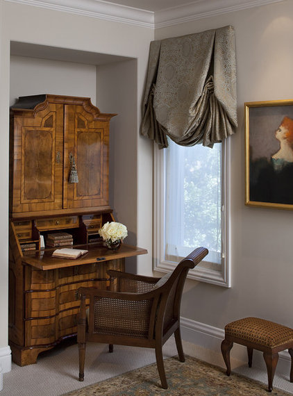 traditional home office by Kathy Bloodworth Interior Design