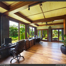 Tropical Home Office by Tropical Architecture Group, Inc