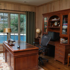 Traditional Home Office by Keith Allen-Custom Builder