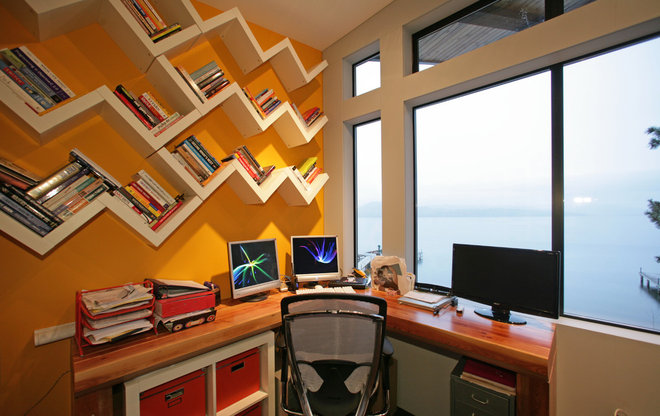 Contemporary Home Office by Wilson & Company Ltd