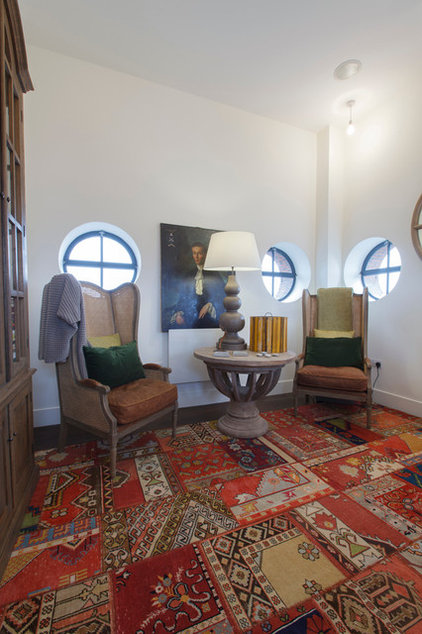 ... Home Office Area Rugs Eclectic Home Office By Joel Antunes Photography  ...