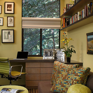 Example of a built-in desk home office design in San Francisco