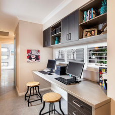 Contemporary Home Office by Jodie Cooper Design
