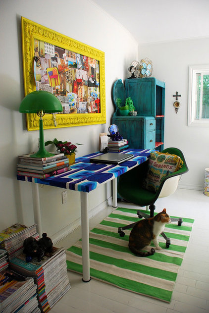 eclectic home office by Desire to Inspire