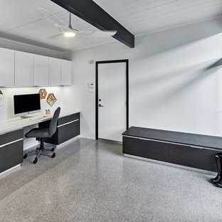 Kitchen and office - Eichler open concept