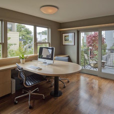 Contemporary Home Office by Canyon Construction