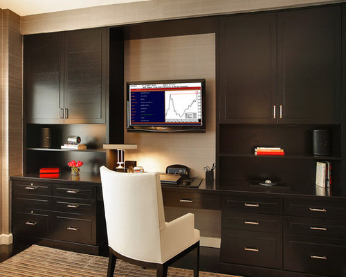 Tv wall cabinet houzz for Home office cabinet design ideas