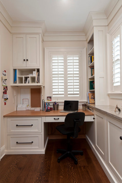 Traditional Home Office by Karen Kassen, CMKBD