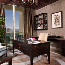 Contemporary Home Office by Knudson Interiors