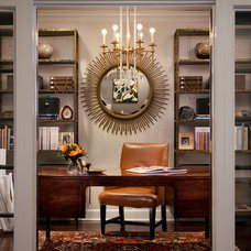 Eclectic Home Office by KS McRorie Interior Design
