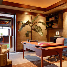 Tropical Home Office by GM Construction, Inc.