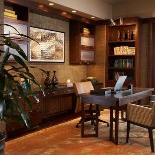 ハワイのトロピカルスタイルのおしゃれなホームオフィス・書斎の写真