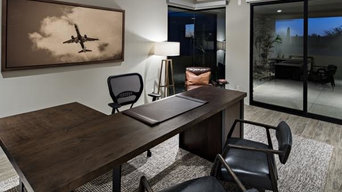 """L"" Shaped Desk with metal base"
