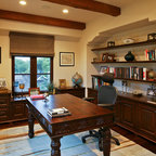 Eco Friendly Tuscan Estate Mediterranean Home Office