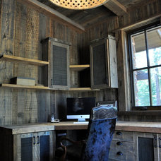 Rustic Home Office by Mountain Craft