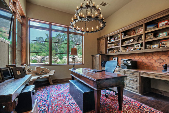 Rustic Home Office by Rick O'Donnell Architect