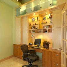 Contemporary Home Office by Lake Country Builders