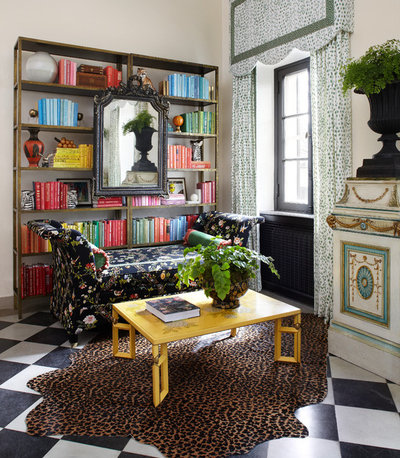 Perfect Eclectic Home Office by Summer Thornton Design Inc