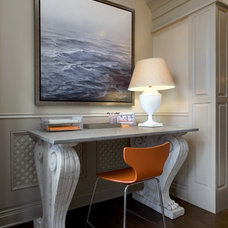 Eclectic Home Office by Jeannie Balsam LLC