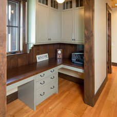 Farmhouse Home Office by Steven Cabinets