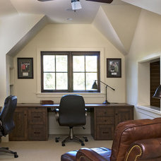 Rustic Home Office by The Berry Group