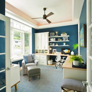 Inspiration för ett mellanstort vintage arbetsrum