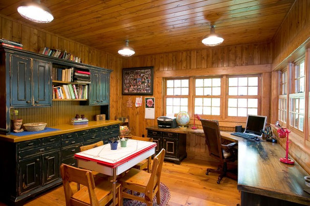 Rustic Home Office by Lands End Development - Designers & Builders