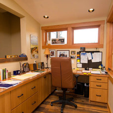 Eclectic Home Office by Riverland Homes Inc