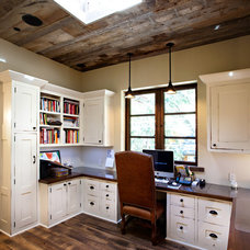 Rustic Home Office by Greenwood Homes