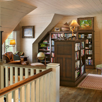 Home office - traditional dark wood floor home office idea in Other