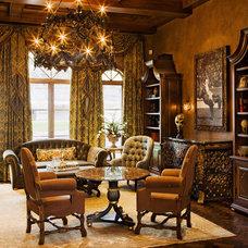 Mediterranean Home Office by Sendero Homes