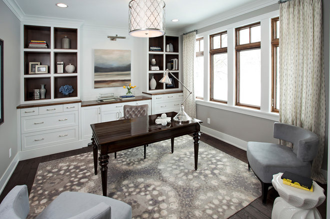 Transitional Home Office by JALIN Design, LLC