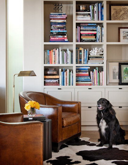 Eclectic Home Office by NB Design Group, Inc