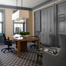 Traditional Home Office by Tom Stringer Design Partners