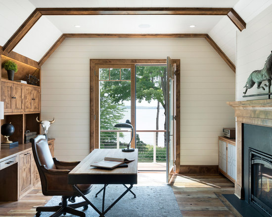 rustic home office design ideas, remodels & photos