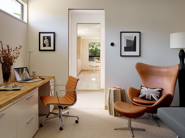 Midcentury Home Office by Lorissa Kimm Architect